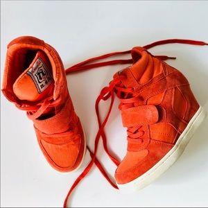 A.S.H Orange Wedge Sneakers 38